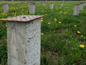 Фундамент на железобетонных сваях с площадкой